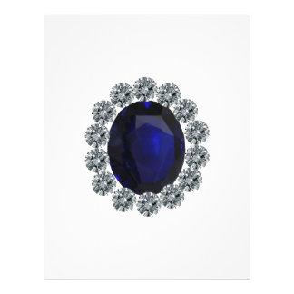 Lady Diana Engagement Ring Letterhead Design
