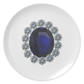 Lady Diana Engagement Ring Party Plate