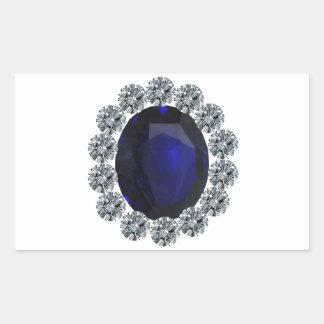 Lady Diana Engagement Ring Rectangular Sticker