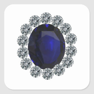 Lady Diana Engagement Ring Square Sticker