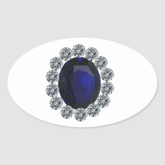 Lady Diana Engagement Ring Oval Sticker