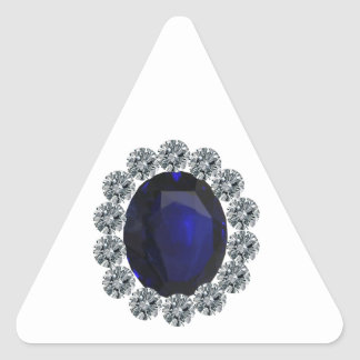 Lady Diana Engagement Ring Triangle Sticker
