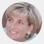 Lady Diana Round Stickers