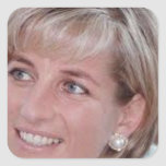 Lady Diana Square Sticker