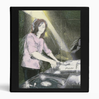 Lady DJ (Binder) 3 Ring Binder