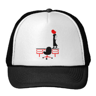 Lady Does The Desk Walk Mesh Hat