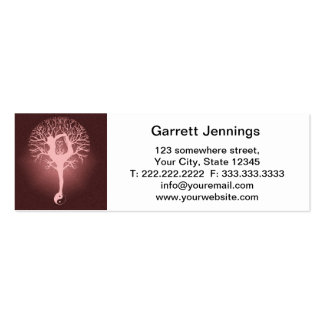 Lady doing yoga with red background. mini business card