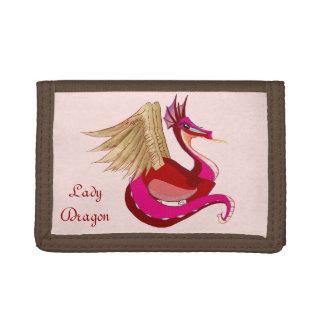 Lady Dragon Tri-fold Wallet
