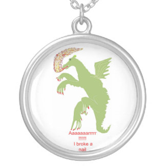 LADY DRAGON WITH BROKEN NAIL NECKLACE