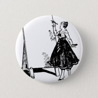 Lady Drawing Button