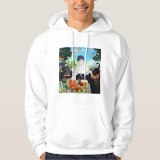 Lady Drinking Tea with Cat Hoodie