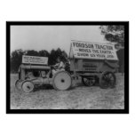 Lady Driving a New Fordson Tractor 1921 Poster