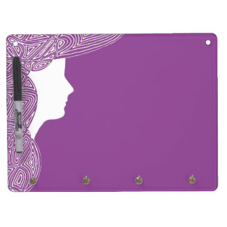 Lady Dry Erase Board With Keychain Holder