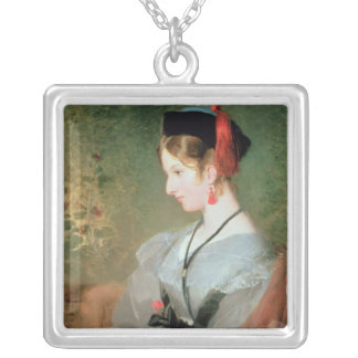 Lady Dyke Square Pendant Necklace
