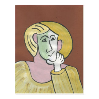 Lady Envy Cubist Postcard