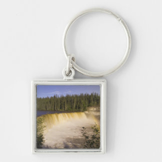 Lady Evelyn Falls Territorial Park, Northwest Silver-Colored Square Keychain