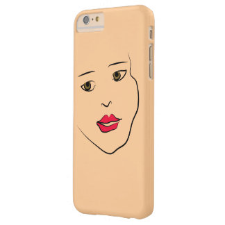 Lady Face Artwork with Custom Monogram Barely There iPhone 6 Plus Case