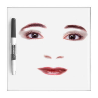 Lady face Dry Erase Board