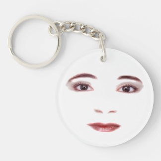 Lady face Key Chain
