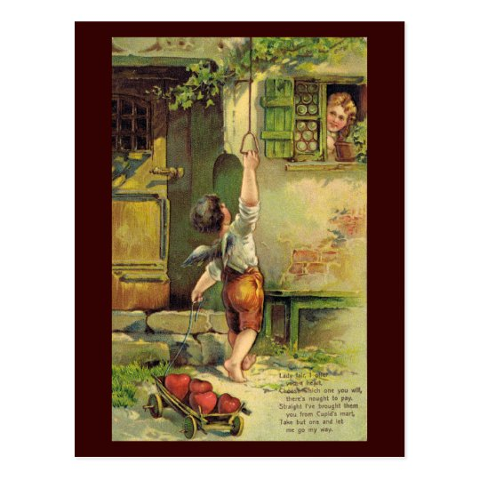 Lady Fair Valentine Postcard