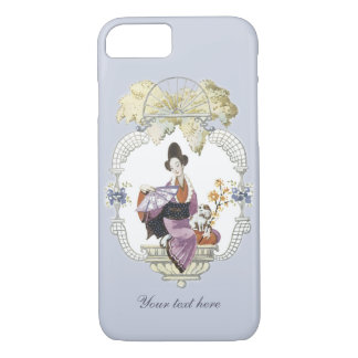 Lady Fan and Dog iPhone 7 Case