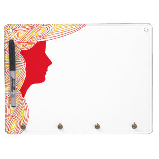 Lady Fire Dry Erase Board With Keychain Holder