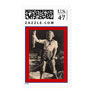 LADY FLY-FISHING FISHING Stamps match Invitation!