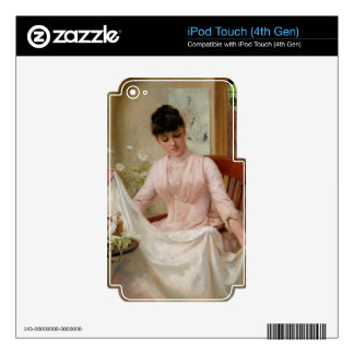 Lady Folding the Laundry iPod Touch 4G Decal