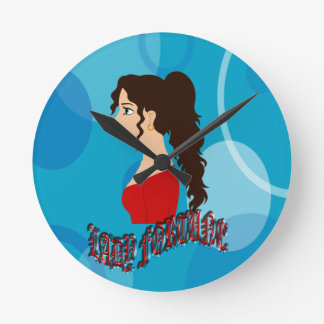 Lady Fortune With Blue Color Wallclock