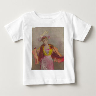 Lady from 1900's, dressed in pink baby T-Shirt