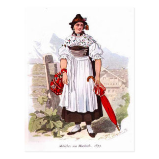 Lady from Munich, 1873 Postcard