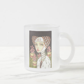 Lady Gertrude in the Garden of Curiosities Frosted Glass Coffee Mug