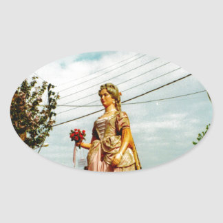 Lady Giant, Parade of the Giants, Flanders Oval Sticker