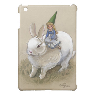 Lady Gnome and Rabbit Case For The iPad Mini