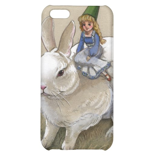 Lady Gnome and Rabbit iPhone 5C Cases