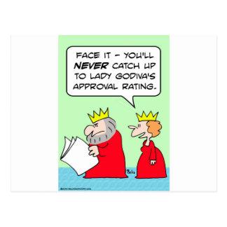 lady godiva approval rating king postcard