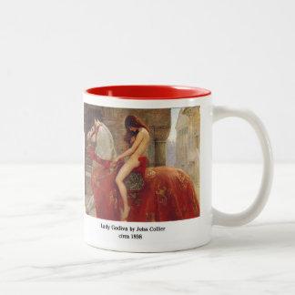 Lady Godiva, by John Collier Two-Tone Coffee Mug
