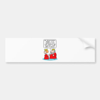 lady godiva king queen tourism bumper sticker