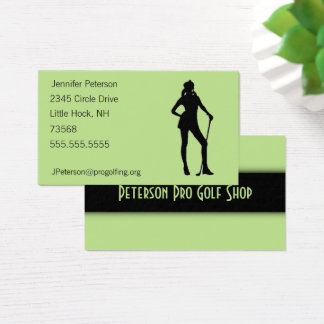 Lady Golf Green Business Card