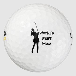 Lady Golfer Golf Ball