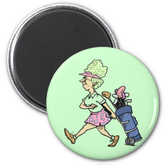 Lady Golfer Tshirts and Gifts Magnet