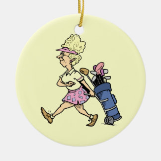 Lady Golfer Tshirts and Gifts Christmas Tree Ornaments