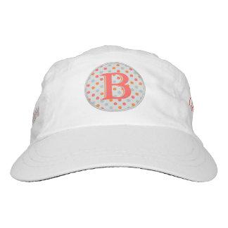 Lady Golfer Unique Polka dots Monogramed Hat