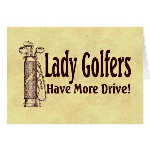 Lady Golfers Greeting Card