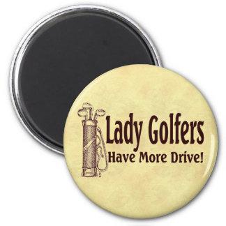 Lady Golfers Refrigerator Magnets
