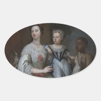 Lady Grace Carteret Oval Sticker