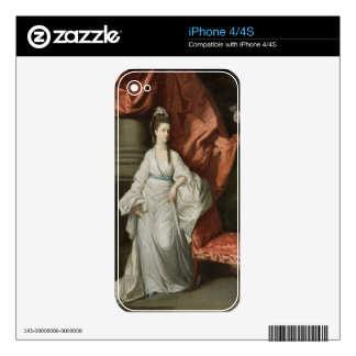 Lady Grant Wife of Sir James Grant Bt 1770-80 Decals For iPhone 4