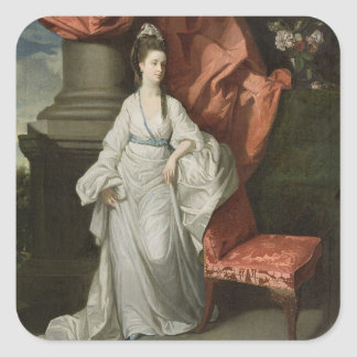 Lady Grant, Wife of Sir James Grant, Bt., 1770-80 Square Sticker