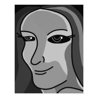 Lady - gray letterhead