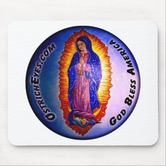 Lady Guadalupe Blessing Mouse Pad
